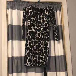 Cheetah print tight mini dress